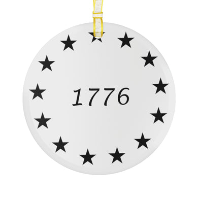 Betsy Ross Flag 1776 - Glass Ornament - The Liberty Daily