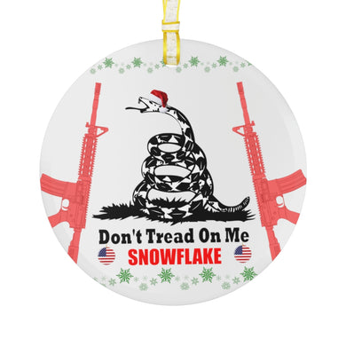 Don't Tread On Me - Glass Ornament - The Liberty Daily