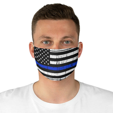 Thin Blue Line Flag Face Mask - The Liberty Daily