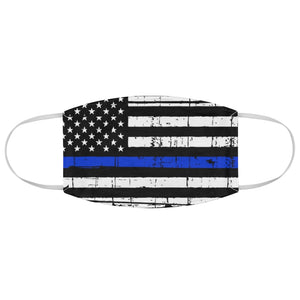 Thin Blue Line Flag Face Mask