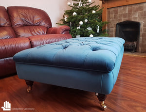 Chesterfield Footstool/Coffee Table - Constantine Upholstery