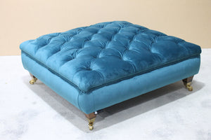 Squeare Chesterfield Footstool - Constantine Upholstery