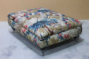 Amazone Buttoned Footstool - Constantine Upholstery