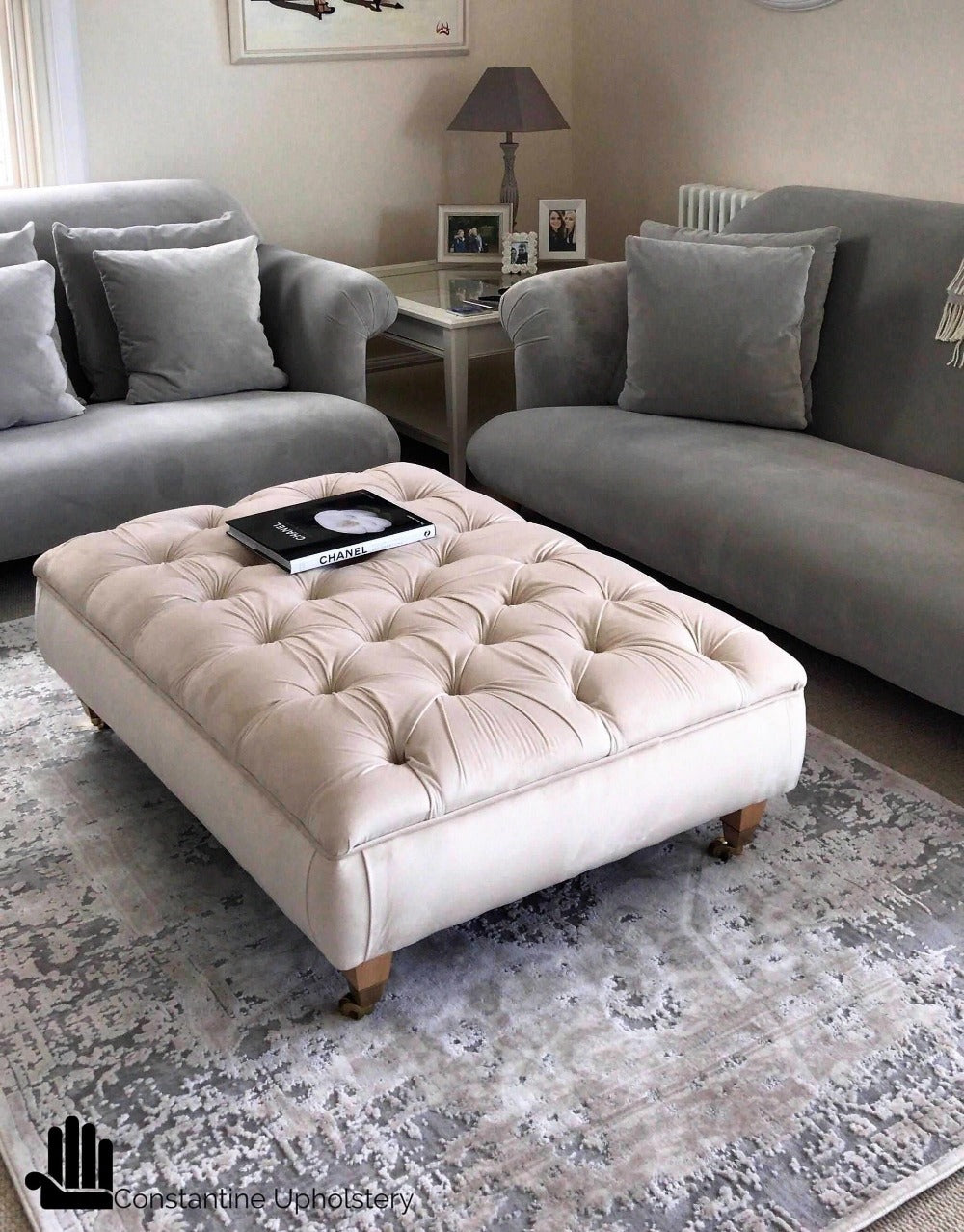 Chesterfield Footstool For Sale Deep Buttoned Footstool