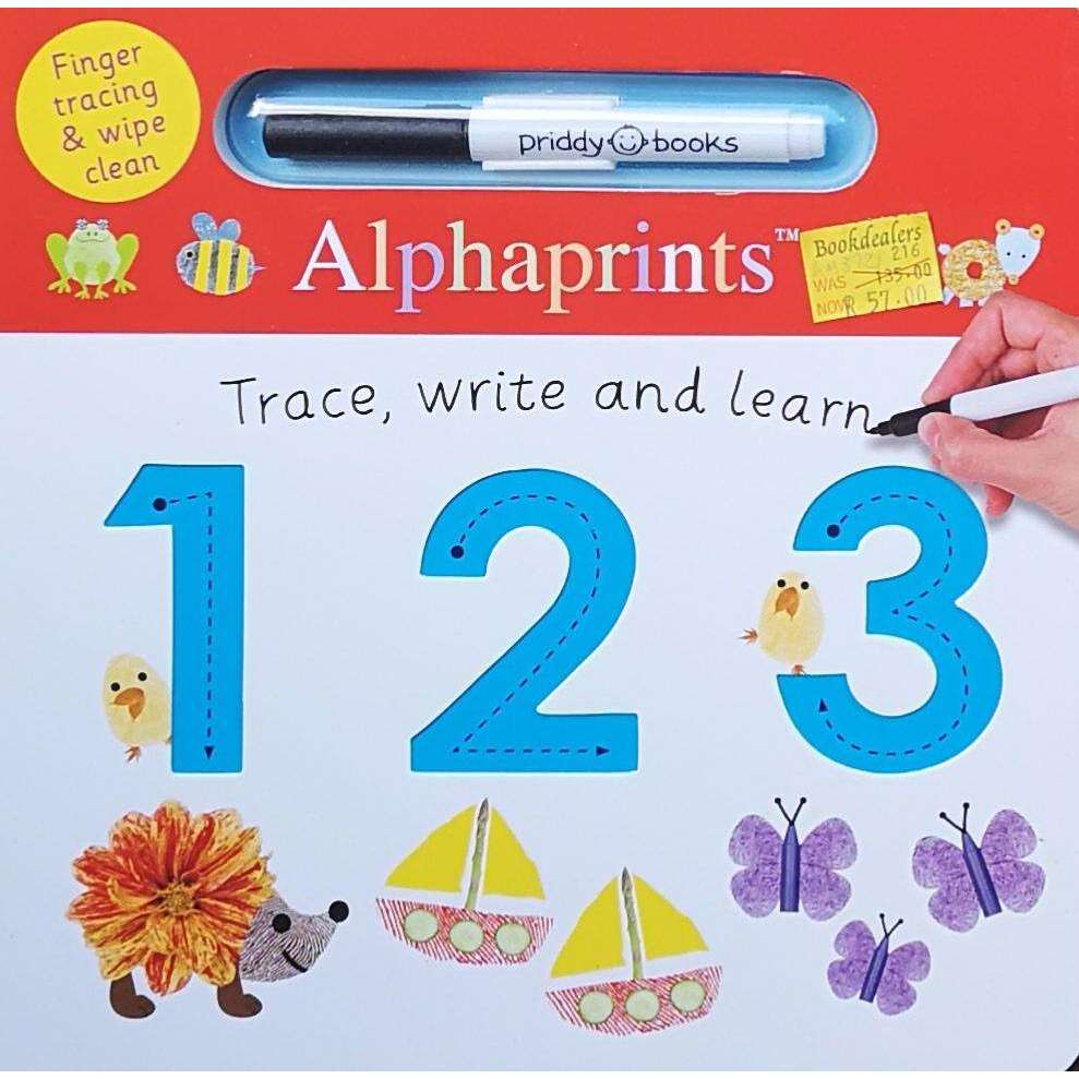 Bookdealers:123: Alphaprints Trace, Write, Learn | Priddy Books