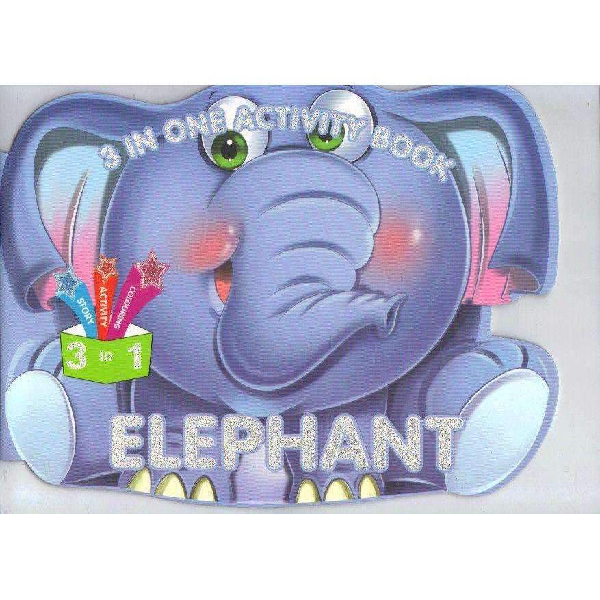 Bookdealers:3 in one Activity Book: Elephant