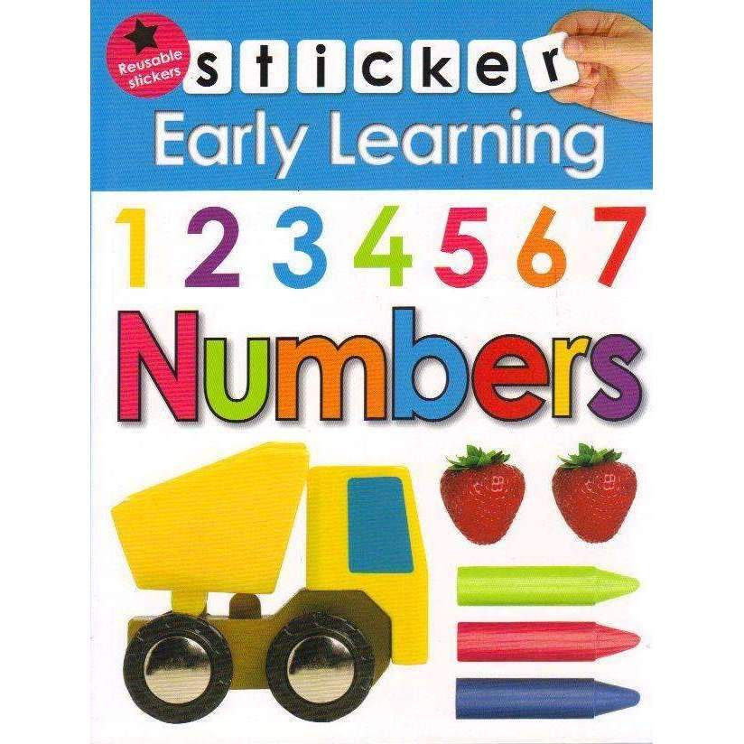 Bookdealers:Numbers: Stickers Early Learning (With Colouring Pages) | Roger Priddy
