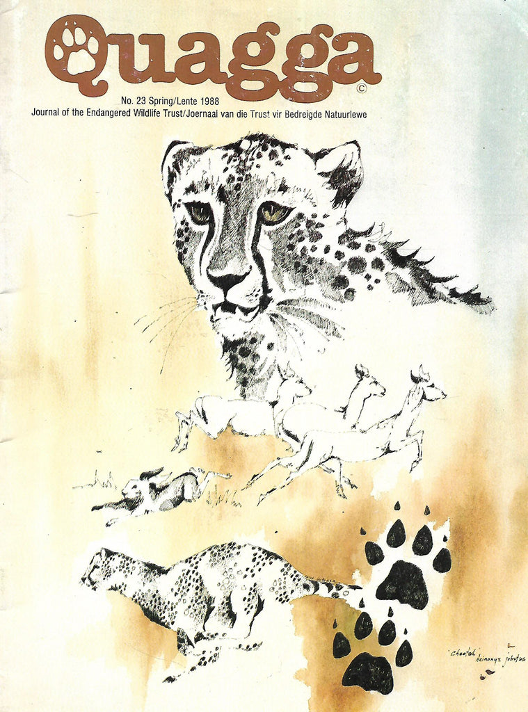 Quagga: Journal of the Endangered Wildlife Trust (No. 23, Spring 1988)