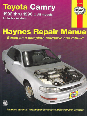 Haynes Repair Manual: Toyota Camry, 1992 thru 1996 | Robert Maddox & John H. Haynes