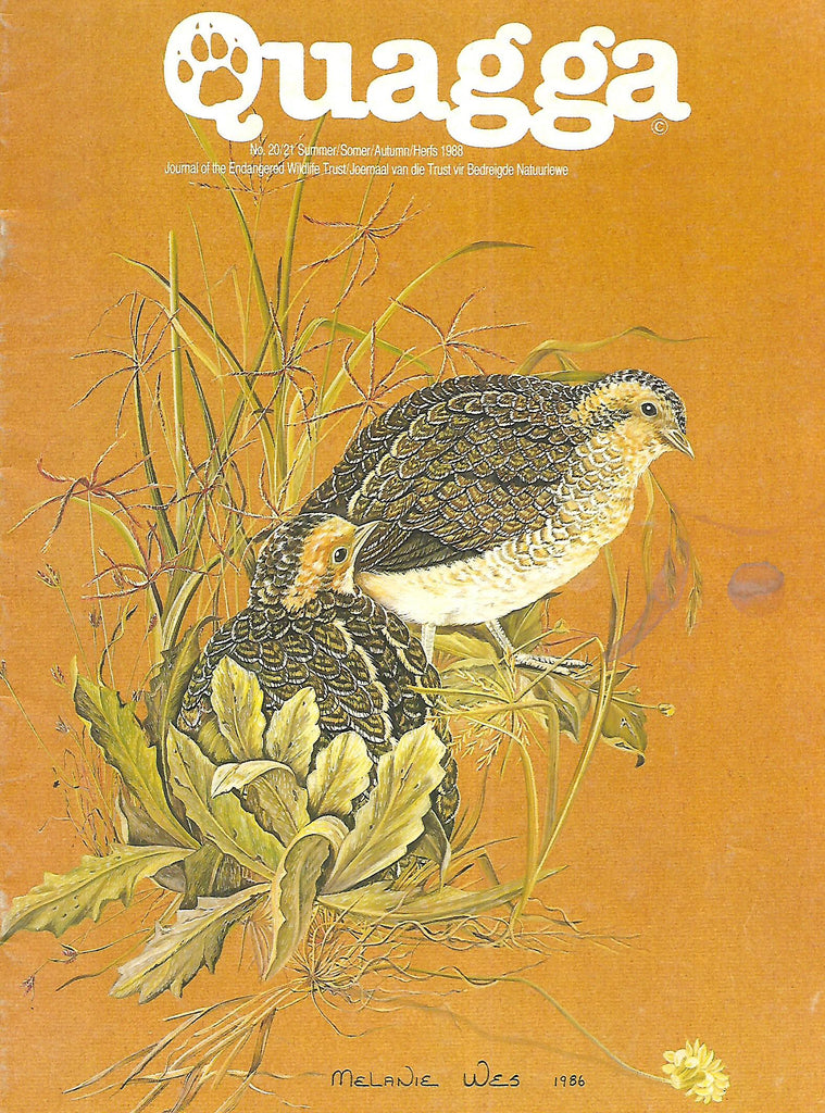 Quagga: Journal of the Endangered Wildlife Trust (No. 20/21, Summer/Autumn 1988)