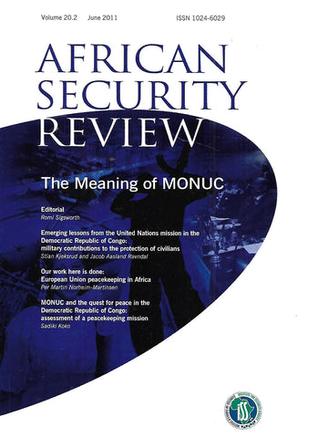 African Security Review (Vol. 20, No. 2, June 2011)