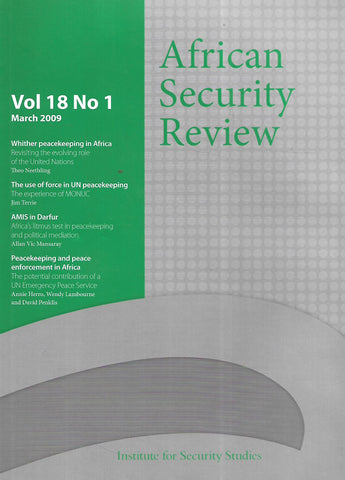 African Security Review (Vol. 18, No. 1, March 2009)