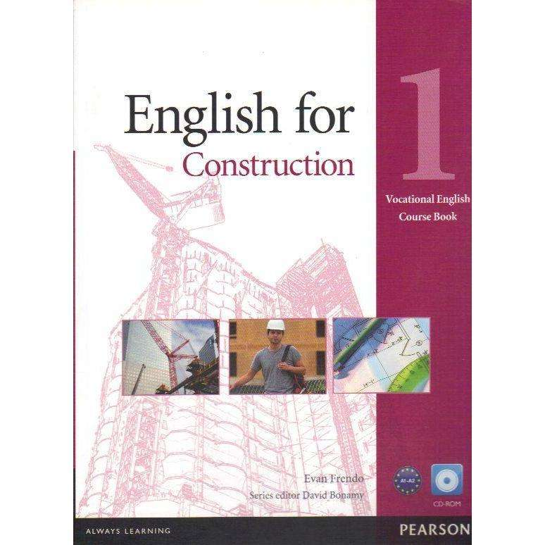 Bookdealers:English For Construction: 1 Vocation English Course Book (With CD Rom) | Evan Frendo
