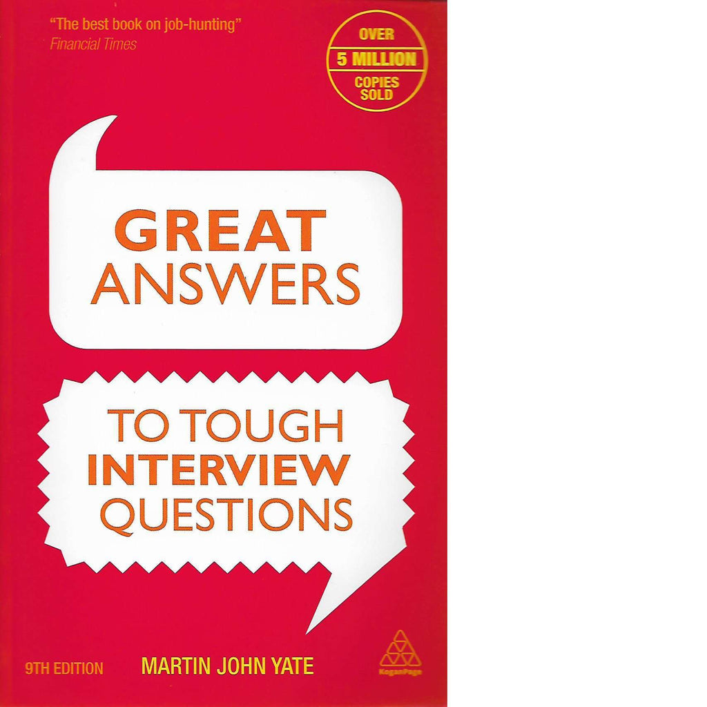 Bookdealers:Great Answers to Tough Interview Questions | Martin John Yate