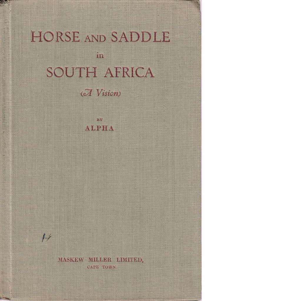Bookdealers:Horse and Saddle in South Africa | Alpha