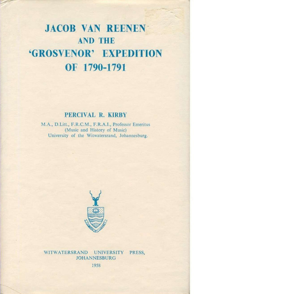 Bookdealers:Jacob Van Reenen and the Grosvenor Expedition of 1790-1791