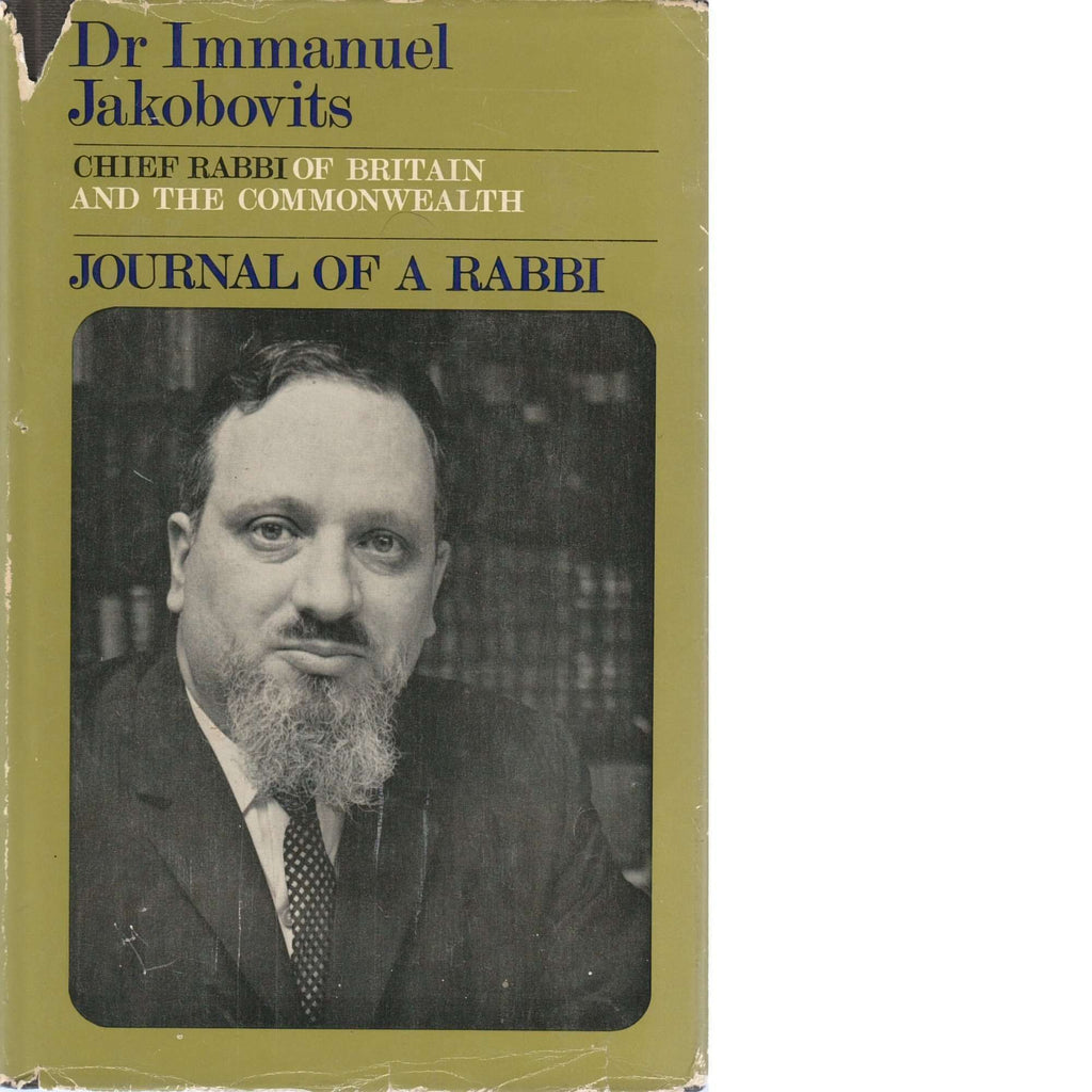 Bookdealers:Journal of a Rabbi