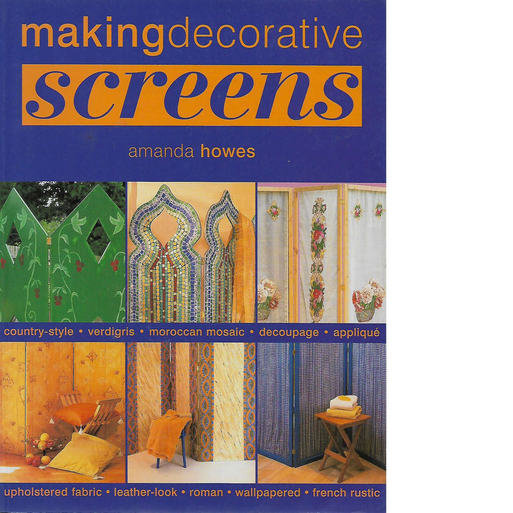 Bookdealers:Making Decorative Screens | Amanda Howes