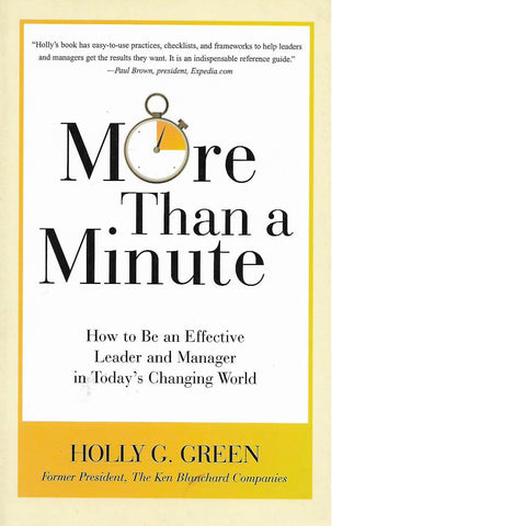 More Than a Minute | Holly G. Green