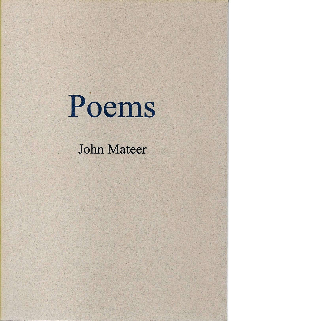 Bookdealers:Poems | John Mateer (With a typed signed Letter from the Author)