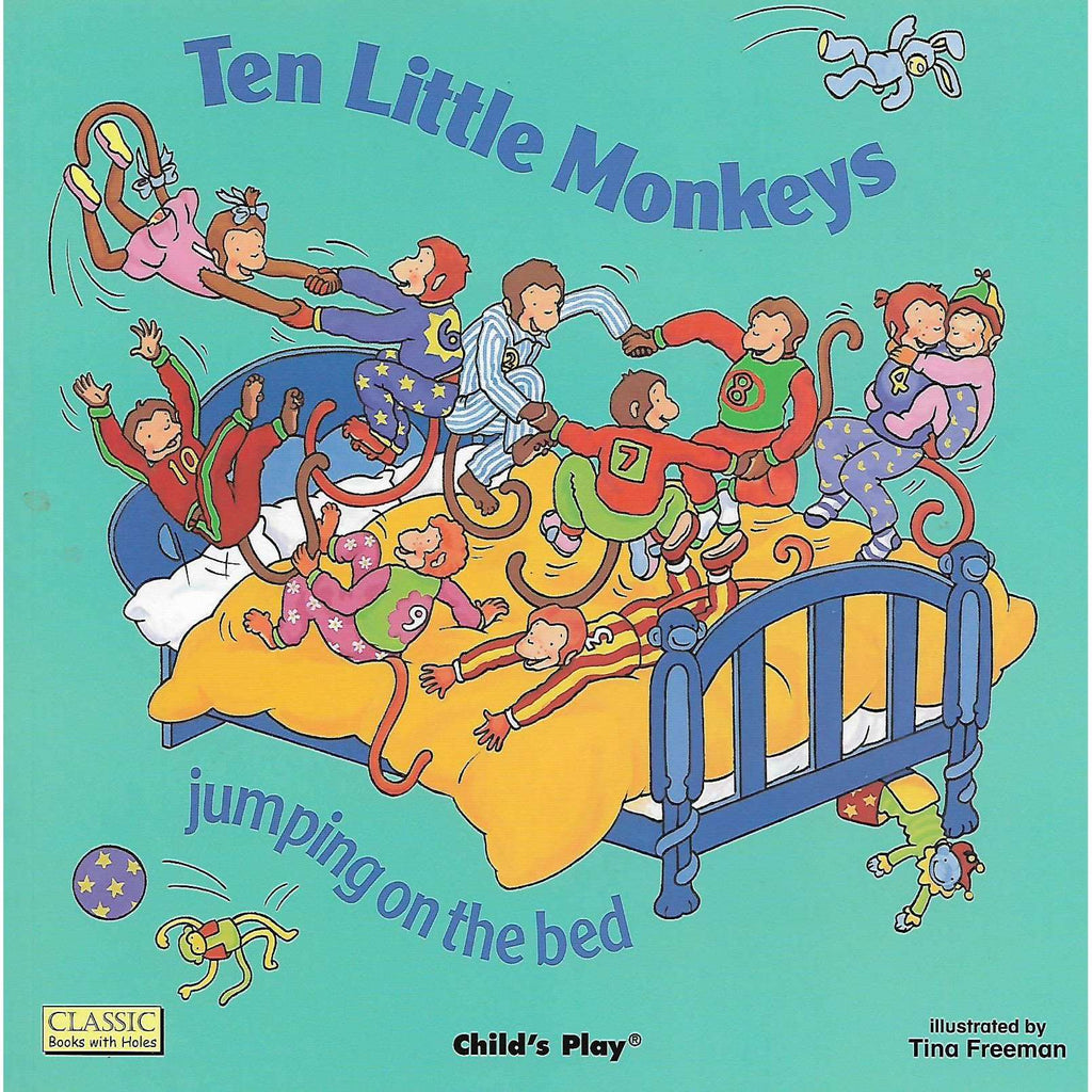 Bookdealers:Ten Little Monkeys Jumping on the Bed | Tina Freeman