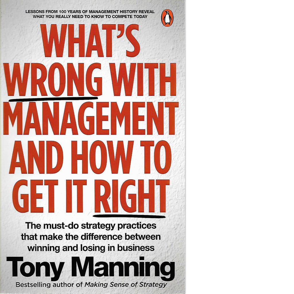 Bookdealers:What's Wrong With Management and How to Get It Right | Tony Manning