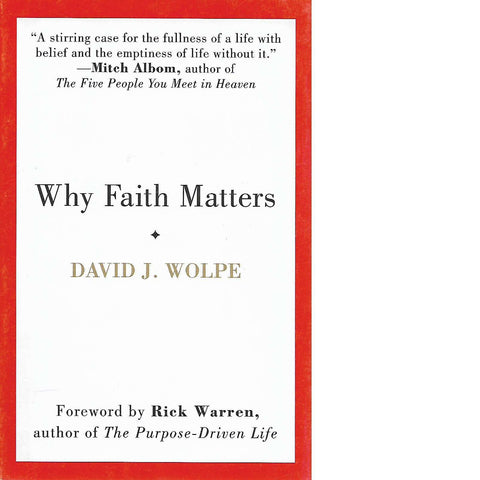 Why Faith Matters | David J. Wolpe