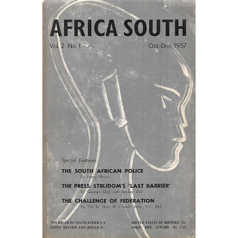 Africa South (With Frontispiece by Gerard Sekoto) (Vol. 2, No. 3, Oct-Dec 1957)