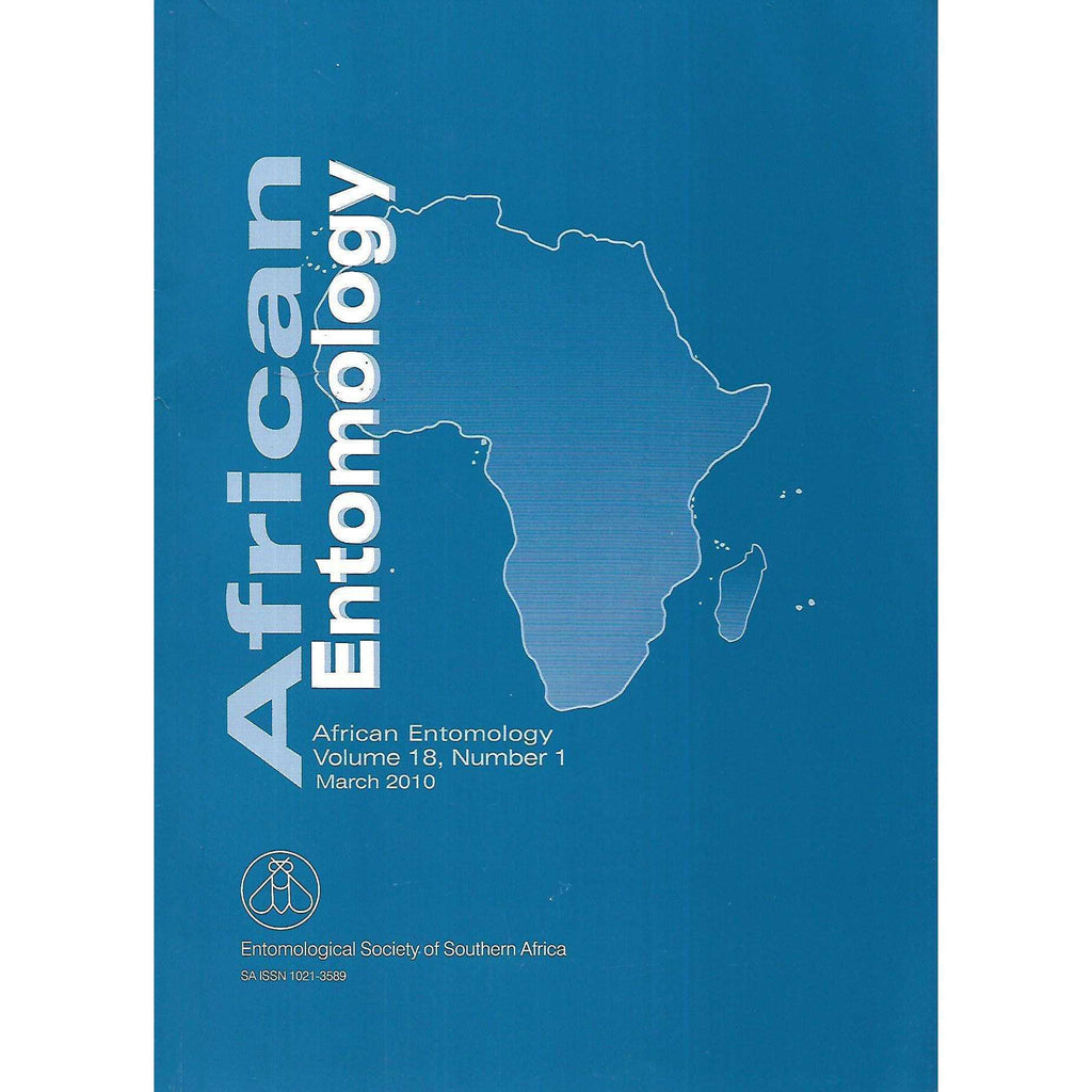 Bookdealers:African Entomology (Vol. 18, No. 1, March 2010)