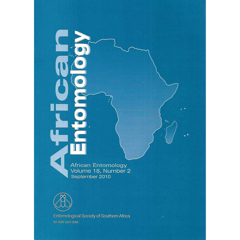 African Entomology (Vol. 18, No. 2, September 2010, Includes Supplement)