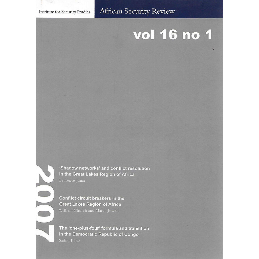 Bookdealers:African Security Review (Vol. 16, No. 1)