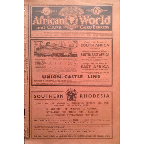 African World and Cape Cairo Express (No. 1767, Vol. CXXXVI, September 1936)