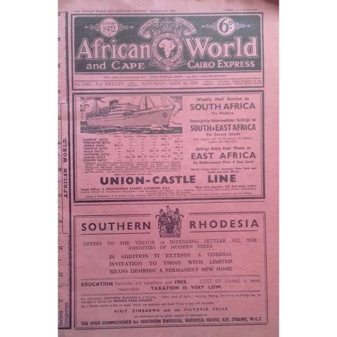 African World and Cape Cairo Express (No. 1768, Vol. CXXXVI, September 1936)