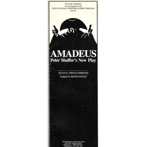 Amadeus: Peter Schaffer's New Play (Promotional Booklet)