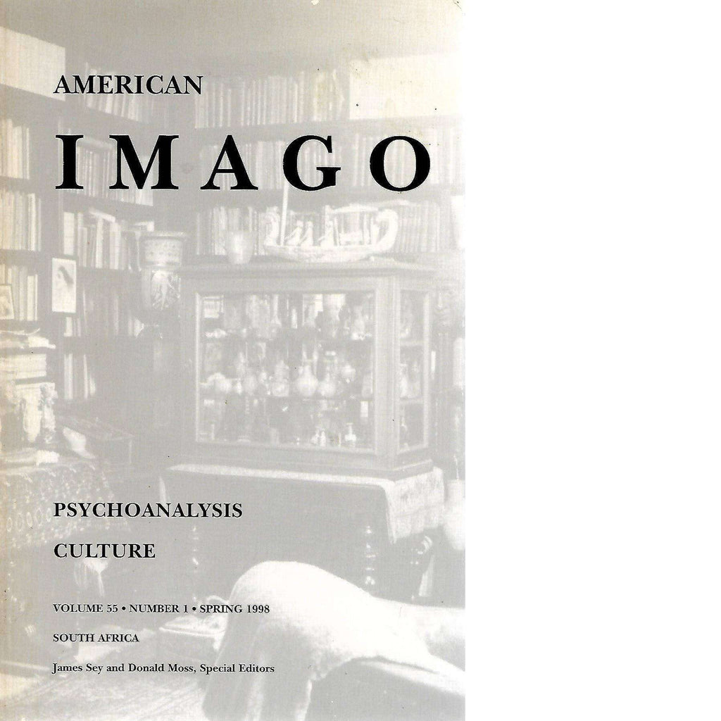 Bookdealers:American Imago: Studies in Psychoanalysis and Culture (Inscribed by) | Editor: James Sey and Donald Moss