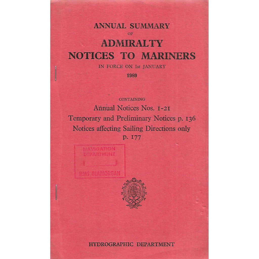 Bookdealers:Annual Summary of Admiralty Notices to Mariners (1980)