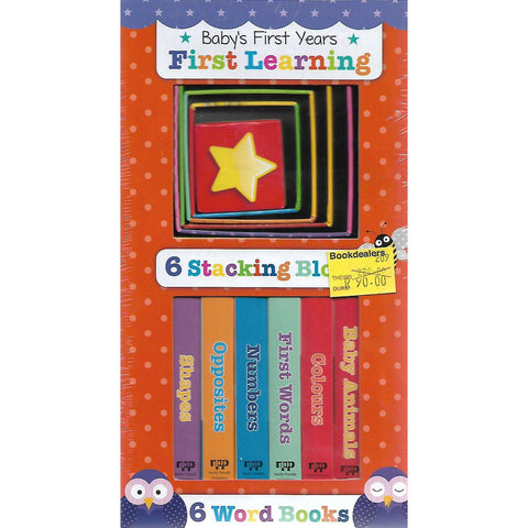 Baby's First Years: First Learning (6 Stacking Blocks, 6 Word Books) | North Parade Publishing
