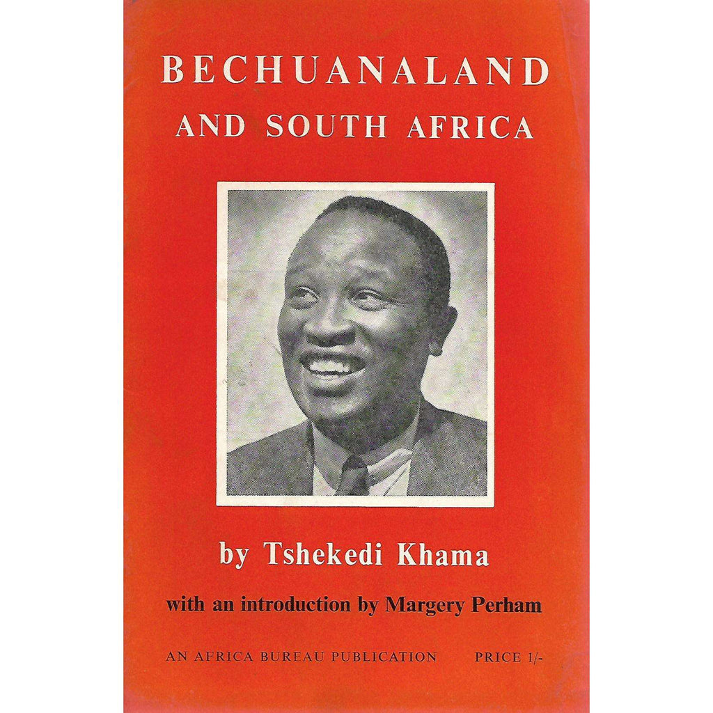 Bookdealers:Bechuanaland and South Africa | Tshekedi Khama