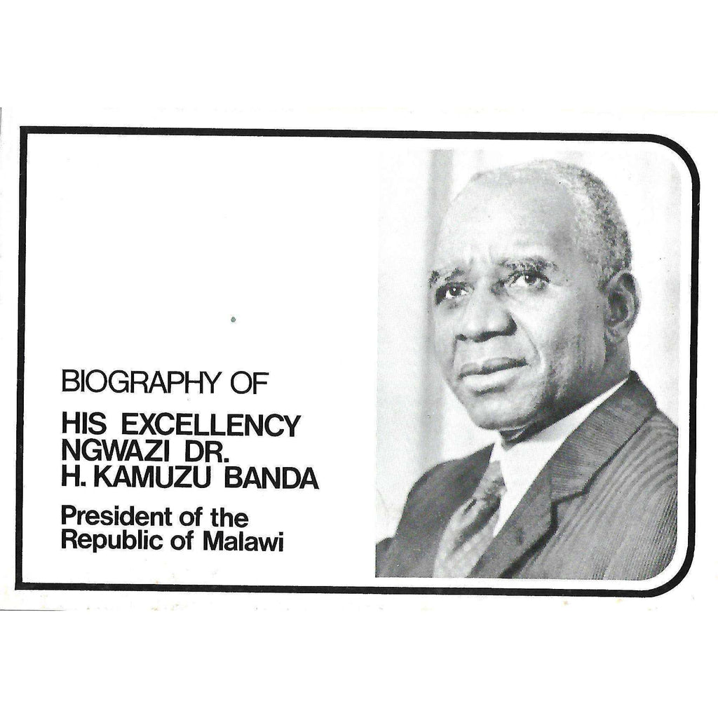 Bookdealers:Biography of His Excellency Ngwazi Dr. H. Kamuzu Banda: President of the Republic of Malawi