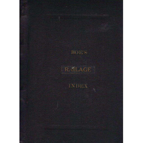 Boe's Railage Index | A.K.E. Boe