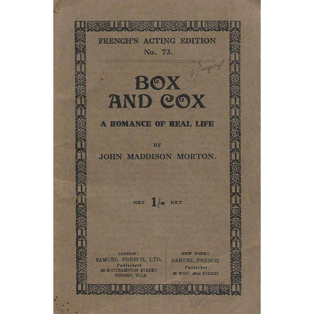 Bookdealers:Box and Cox: A Romance of Real Life | John Maddison Morton