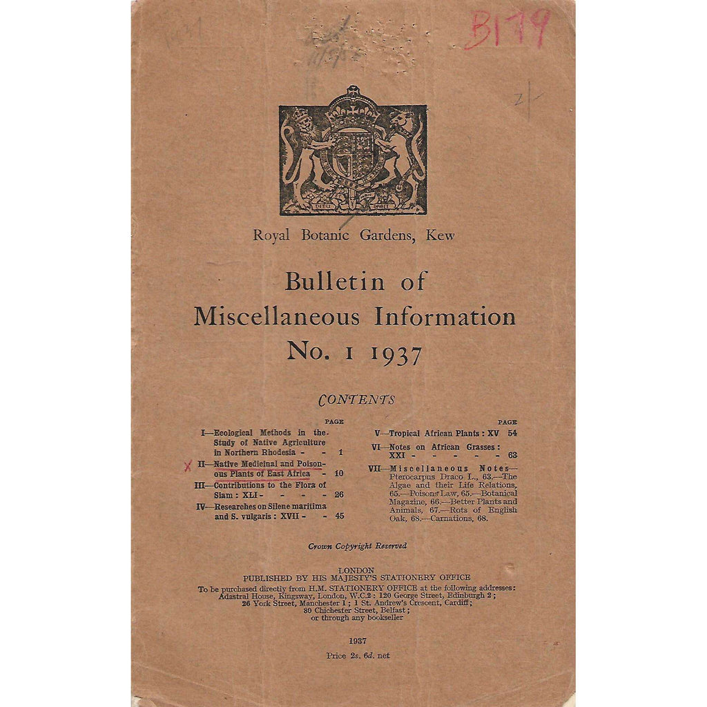 Bookdealers:Bulletin of Miscellaneous Information (No. 1, 1937)