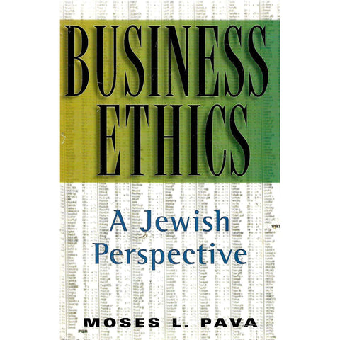 Business Ethics: A Jewish Perspective | Moses L. Pava