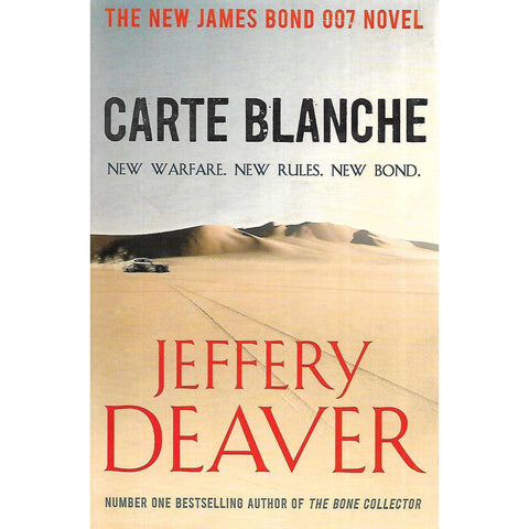 Carte Blanche (Inscribed by Author) | Jeffery Deaver