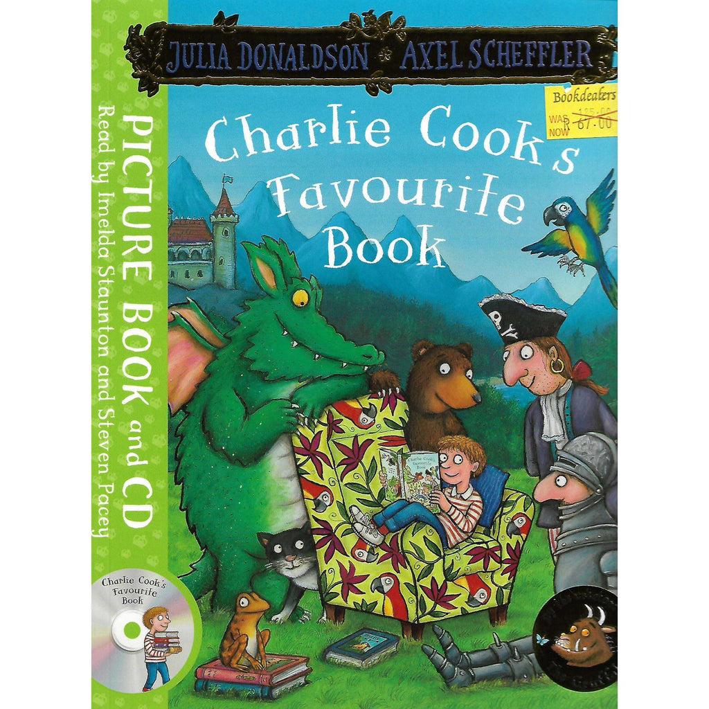 Bookdealers:Charlie Cook's Favourite Book: Picture Book and CD | Julia Donaldson and Axel Scheffler
