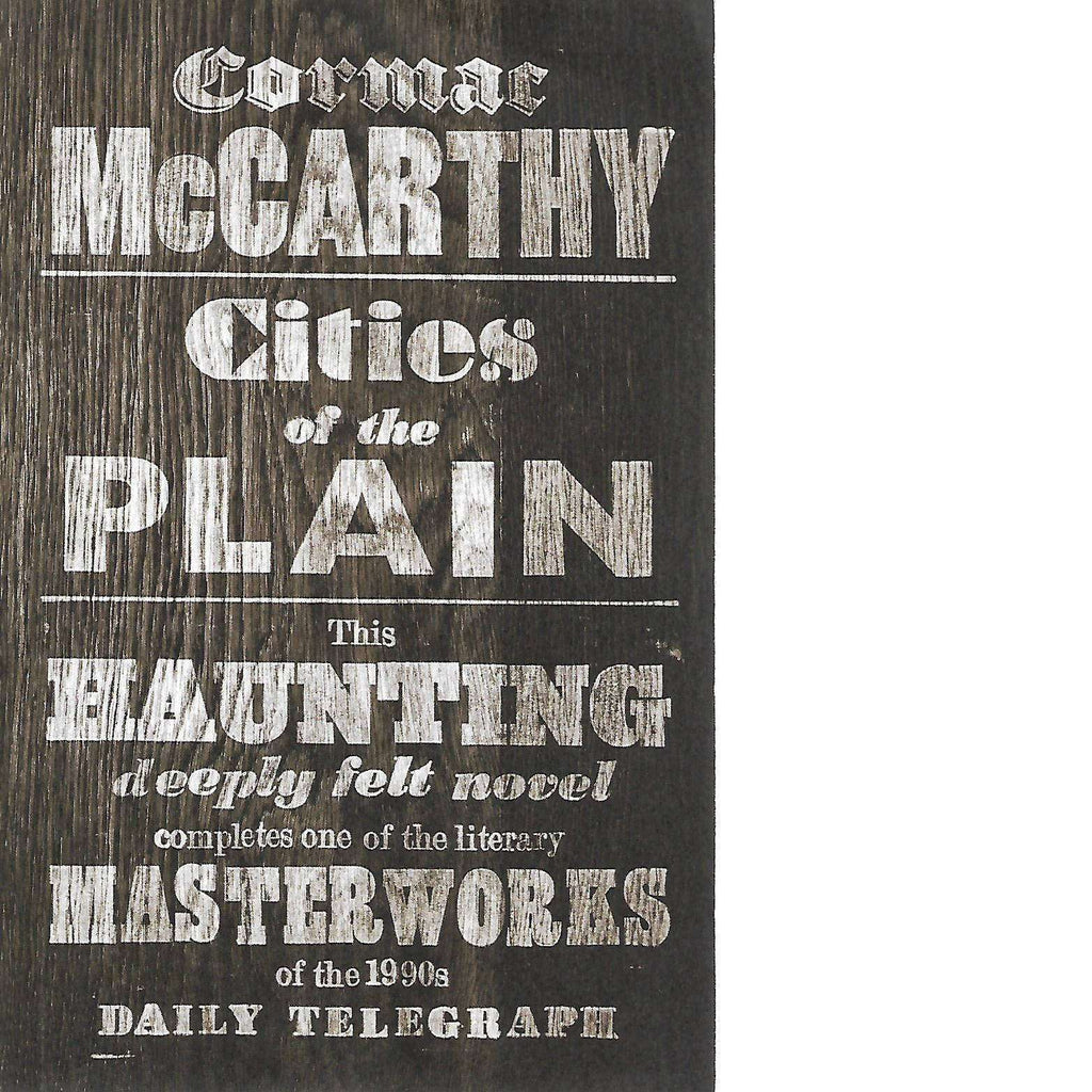 Bookdealers:Cities of the Plain | Cormac McCarthy
