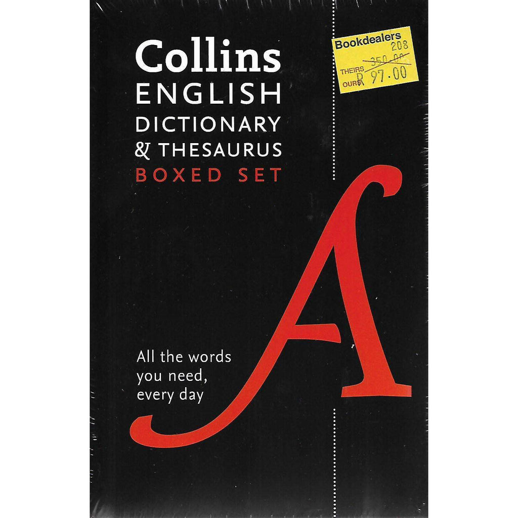 Bookdealers:Collins English Dictionary & Thesaurus Boxed Set