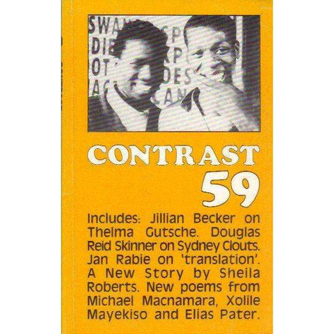 Contrast 59: South African Literary Journal (Winter, July, Volume 15 No. 3 1985) | Geoffrey Haresnape