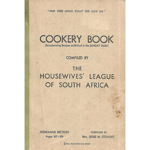 Cookery Book (Compiled by the Housewives' League of South Africa)