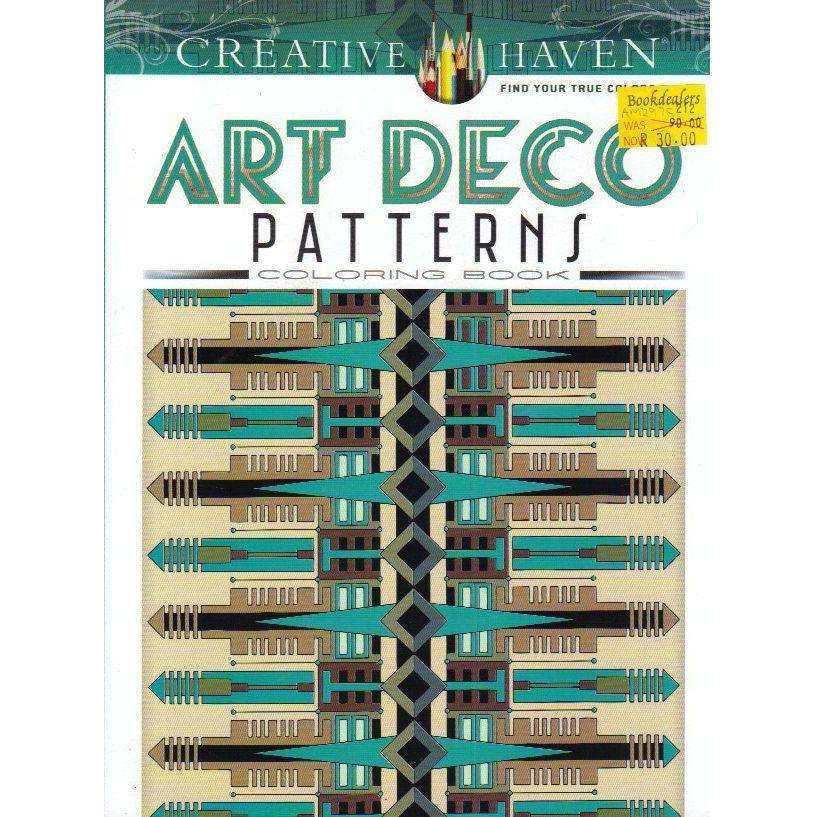 Bookdealers:Creative Haven Art Deco Patterns Coloring Book (Adult Coloring) | William Rowe